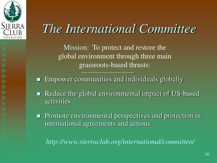 The International Committee