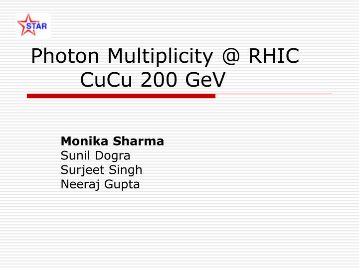 Photon multiplicity @ rhic cucu 200 gev