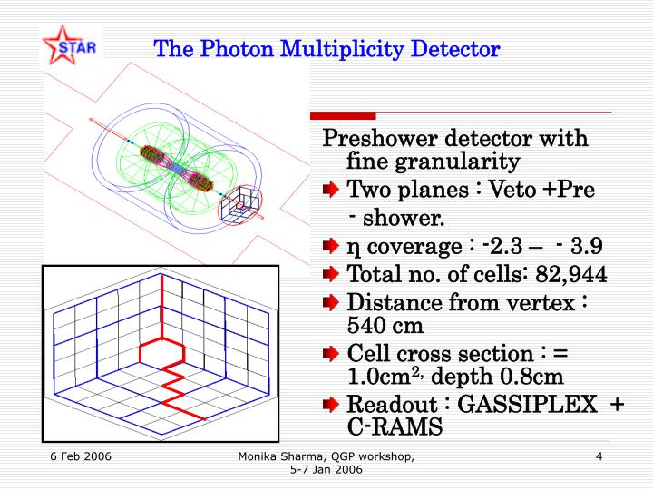 The Photon Multiplicity Detector