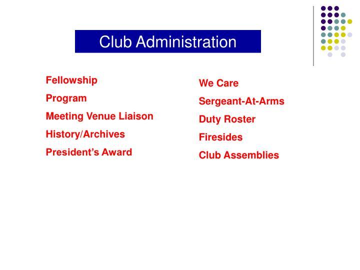 Club Administration