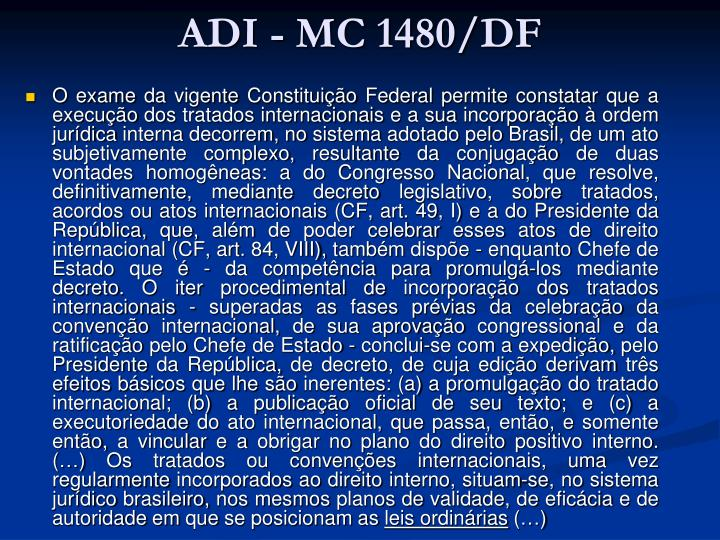 ADI - MC 1480/DF