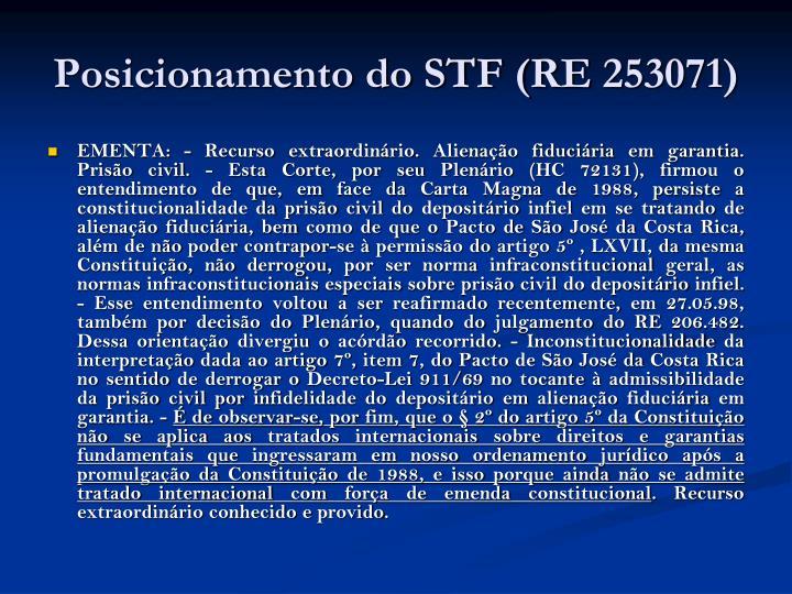 Posicionamento do STF (