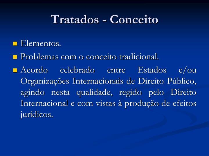 Tratados - Conceito