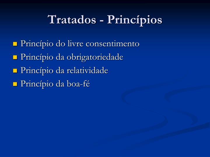 Tratados - Princípios