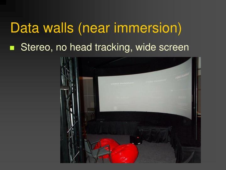 Data walls (near immersion)