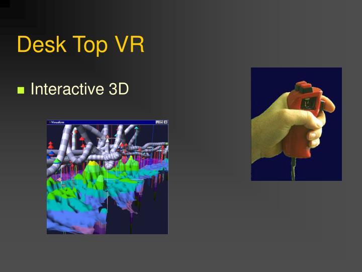 Desk Top VR