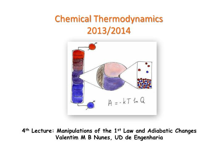 Chemical thermodynamics 2013 2014