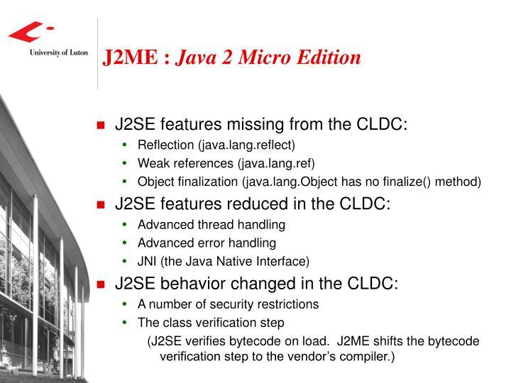 J2ME :