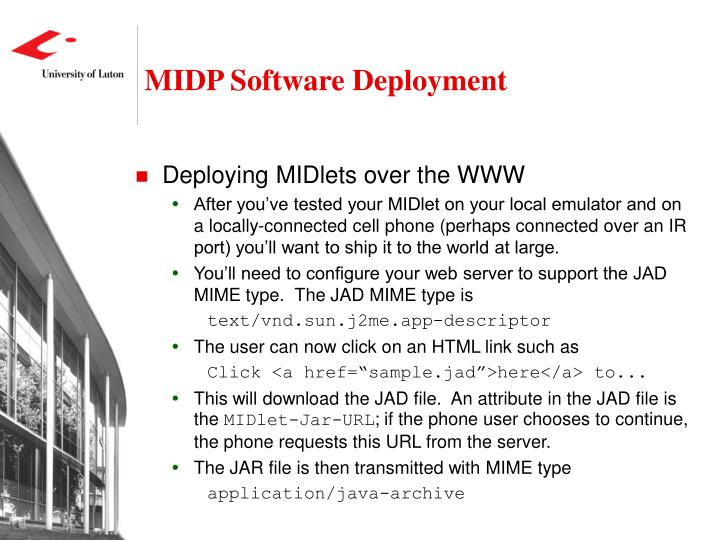 MIDP Software Deployment