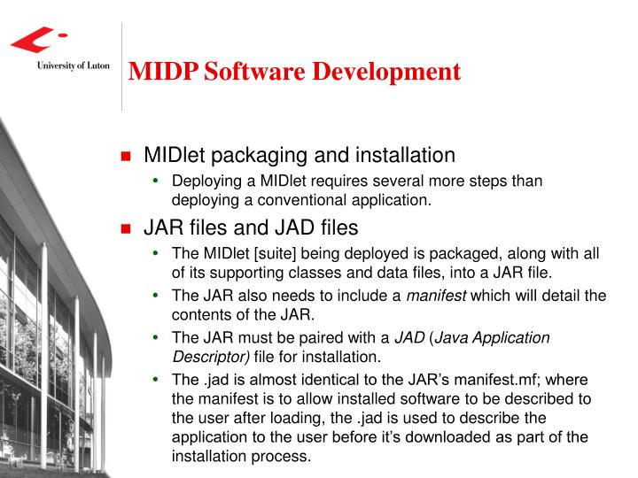 MIDP Software Development