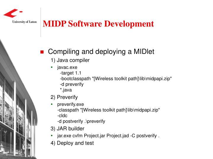 MIDP Software Development