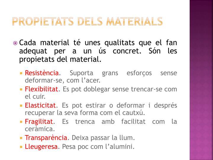 Propietats dels materials