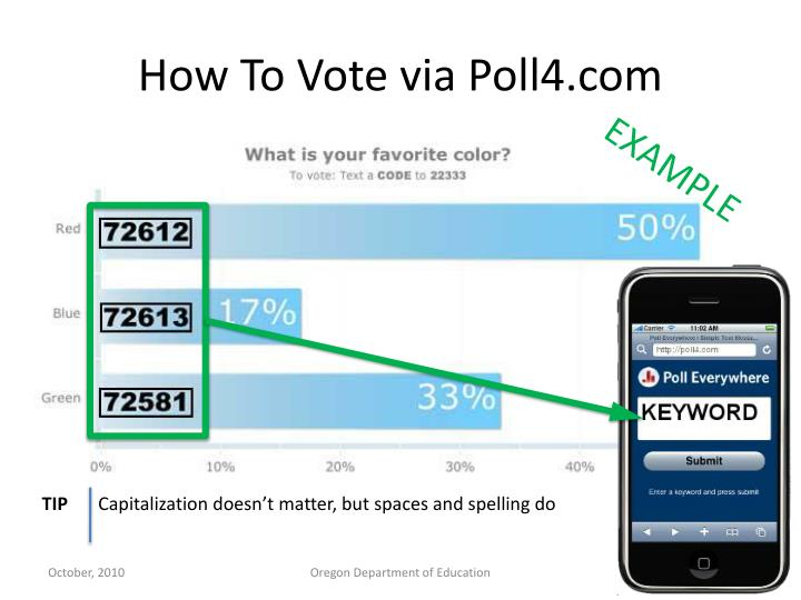How To Vote via Poll4.com