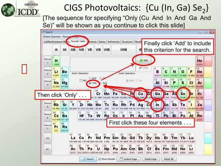 CIGS Photovoltaics:  {Cu (In, Ga) Se