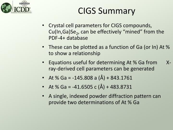 CIGS Summary