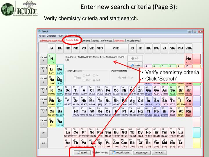 Enter new search criteria (Page 3):