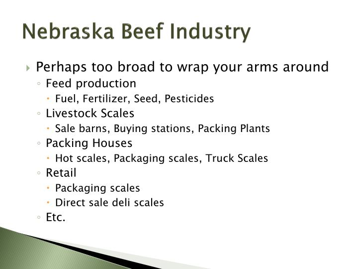Nebraska Beef Industry