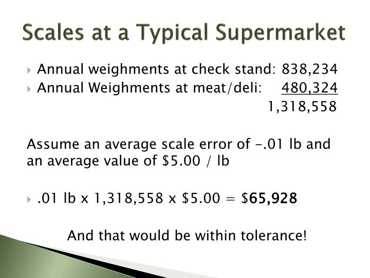 Scales at a Typical Supermarket