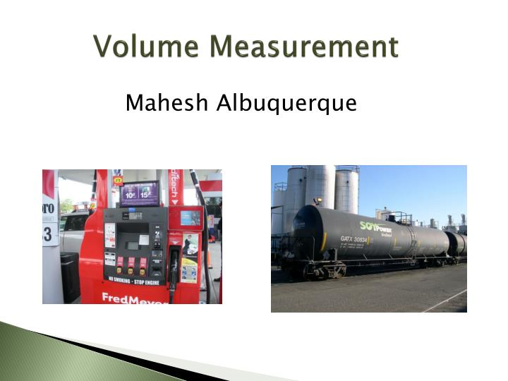 Volume Measurement