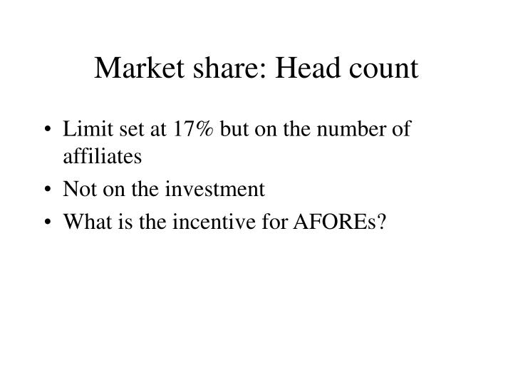 Market share: Head count