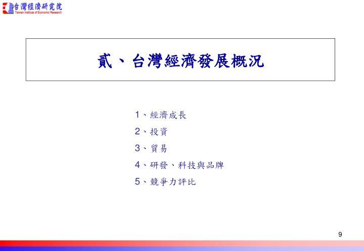 貳、台灣經濟發展概況