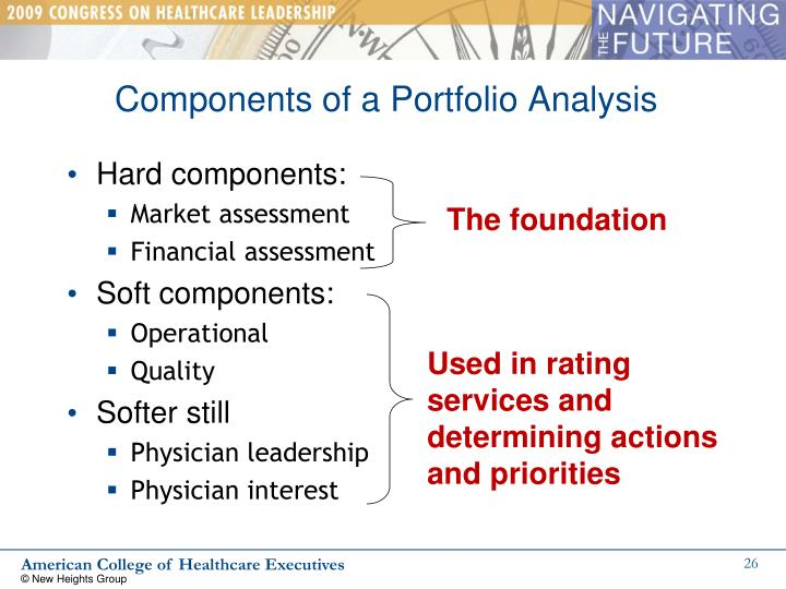 Components of a Portfolio Analysis
