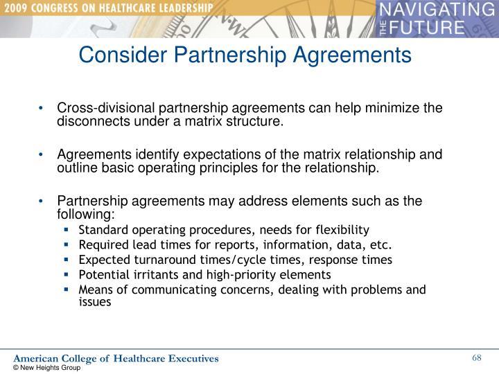 Consider Partnership Agreements