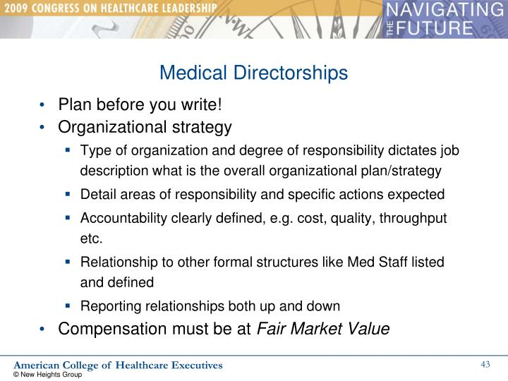 Medical Directorships