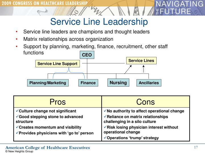 Service Line Leadership