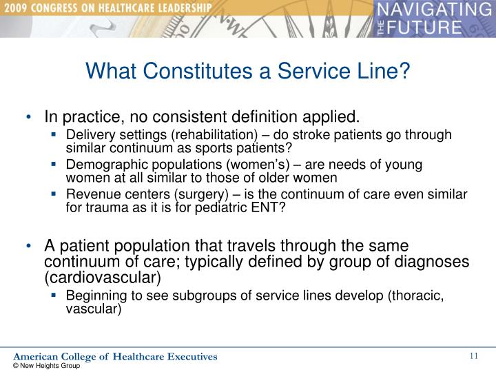 What Constitutes a Service Line?