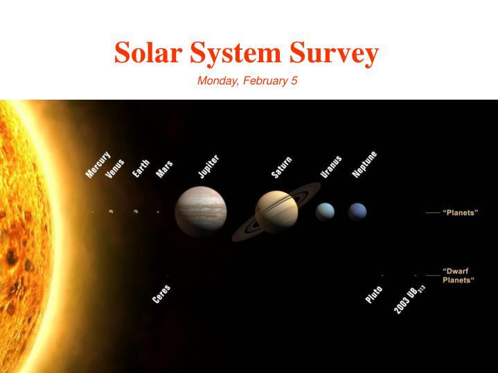Solar System Survey