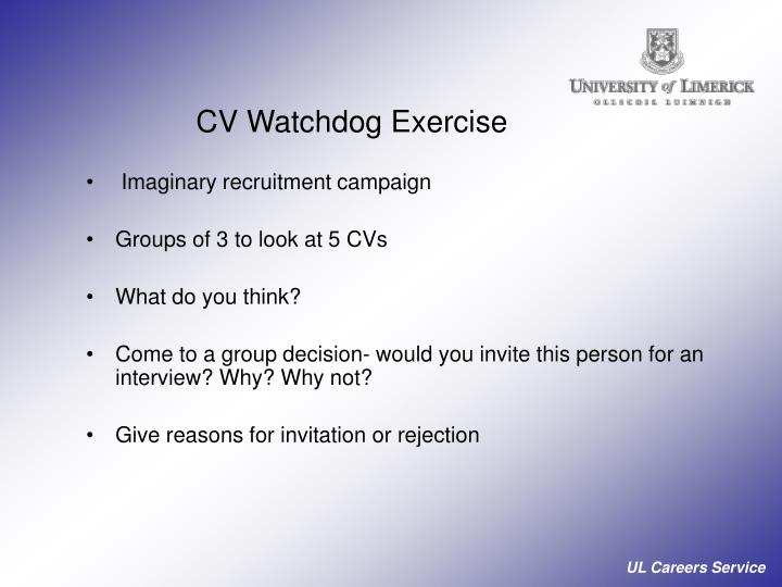 CV Watchdog Exercise