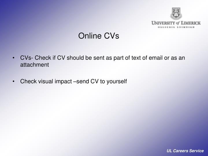 Online CVs