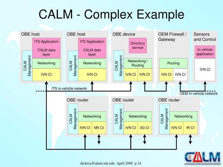 CALM - Complex Example