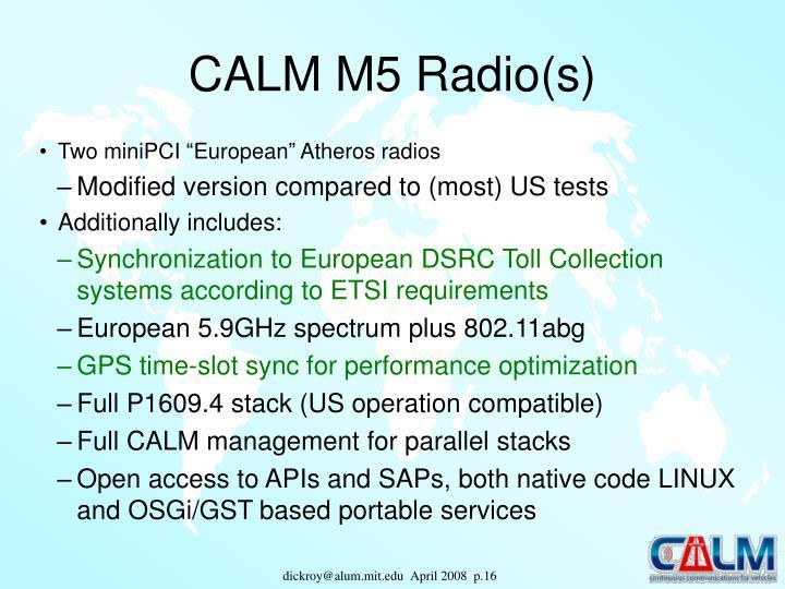 CALM M5 Radio(s)