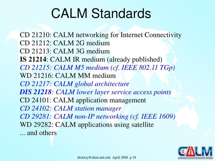 CALM Standards