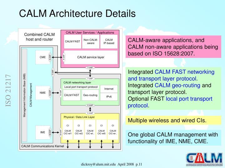 CALM Architecture Details