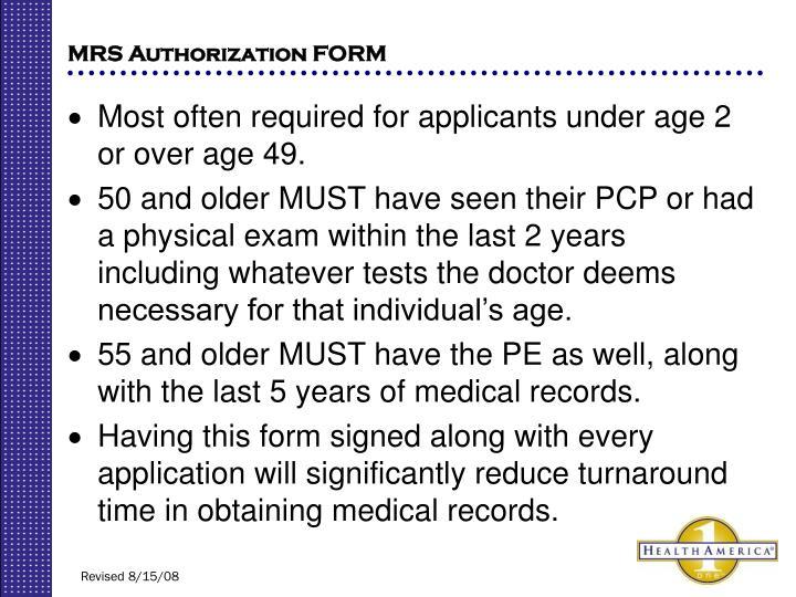 MRS Authorization FORM