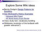 explore some wiki ideas