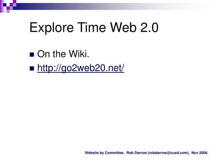 Explore Time Web 2.0