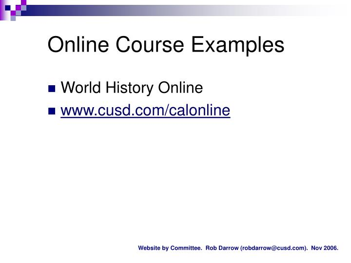 Online Course Examples