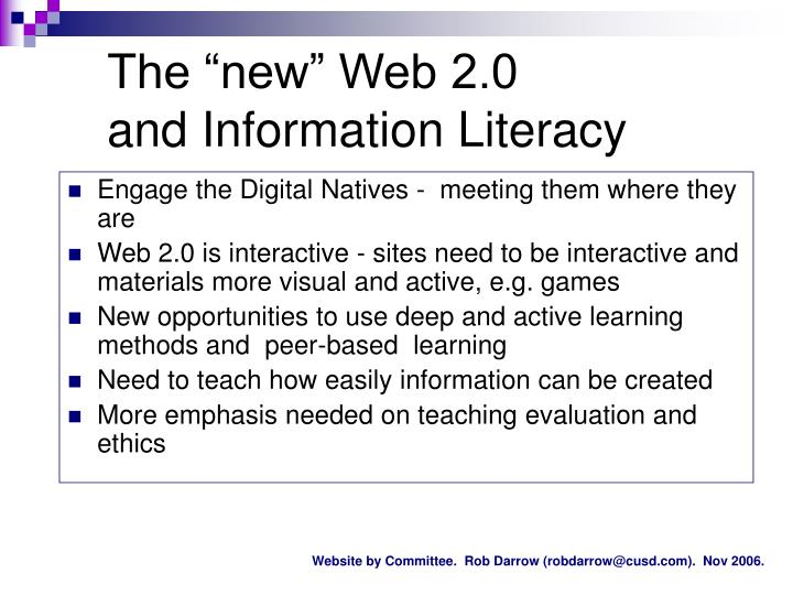 """The """"new"""" Web 2.0"""