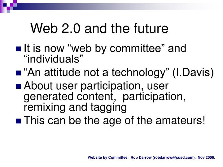 Web 2.0 and the future