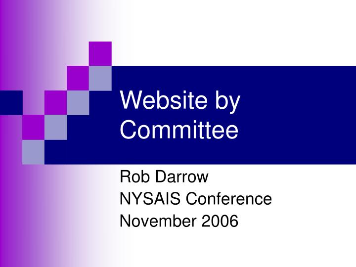 Website by committee