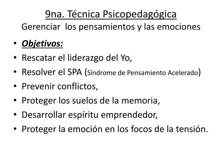 9na. Técnica Psicopedagógica