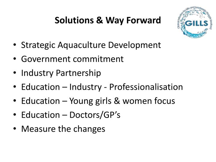 Solutions & Way Forward