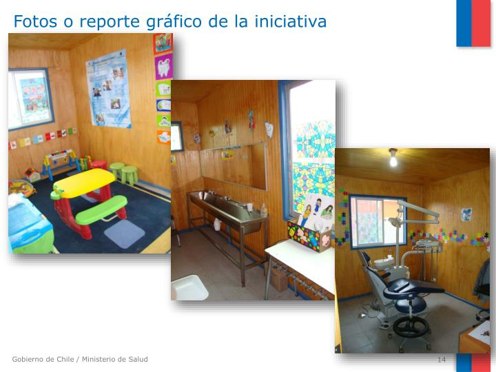 Fotos o reporte gráfico de la iniciativa