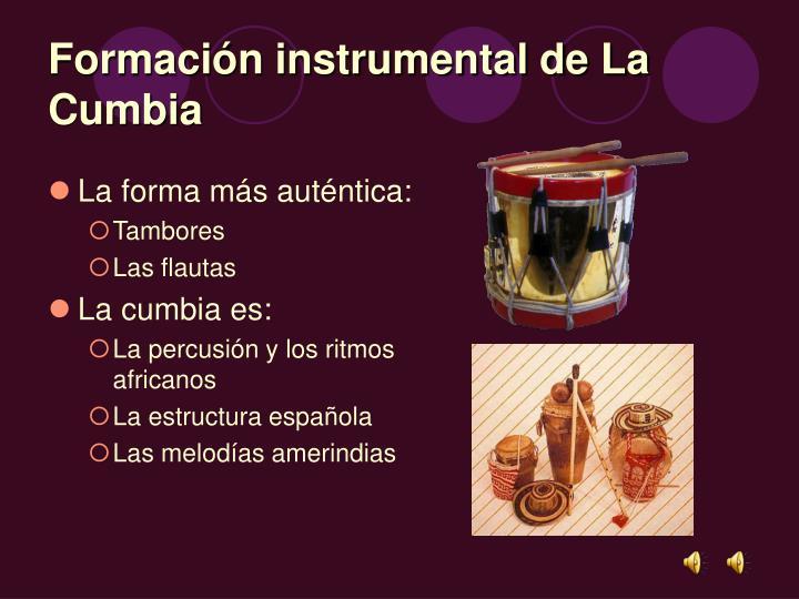 Formación instrumental de La Cumbia