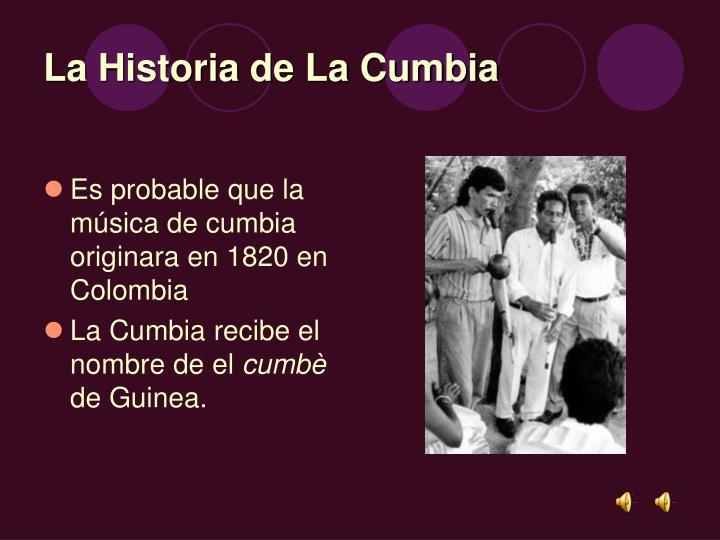 La Historia de La Cumbia