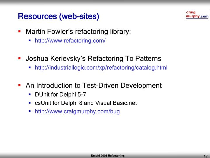 Resources (web-sites)